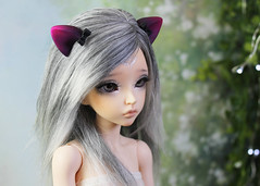 commissioned parts (Sparrow ♪) Tags: msd yosd ear bows magenta fushia purple tiny small bjd minifee liria