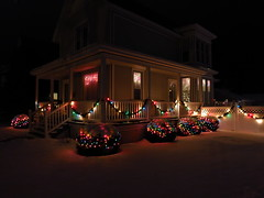 IMG_0716 holiday homes at night (jgagnon63@yahoo.com) Tags: christmaslights holidayhomes escanaba christmasdecorations christmas nightphotography canons110 uppermichigan deltacountymi deltacounty