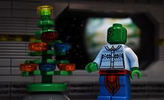 Cozy Christmas Eve (Andrew Cookston) Tags: martian manhunter jon jonzz christmas tree sweater jla watchtower dc comics andrew cookston andrewcookston