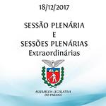 Sessão Plenária e Sessões Plenárias Extraordinárias 18/12/2017