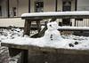 Mr Frosty enjoying his picnic - HBM! (Jo Evans1) Tags: bench monday hbm snowman mr frosty enjoying picnic craig y nos swansea valley snow