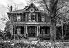 146 Early Canadian Architecture (G. Maxwell) Tags: 2017 blackwhite em1mkii buildingsandlines landscapeseascape monochrome oldhouses olym12100mmf40 olympus bowmanville ontario structures zuiko winter