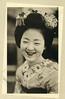 Maiko Satochiyo 1933 (Blue Ruin 1) Tags: maiko apprenticegeisha geiko geisha kyoto japanese japan showaperiod 1930s 1933 postcard kanzashi haneri satochiyo