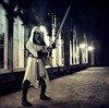 Assassins Creed (Bo Dudas) Tags: bw assassinscreed assassins medieval knightfall templar cosplay blackwhite blackandwhite black perspective light lights hallway shadow shadows noir dark sword cape hunter ezio castle battle
