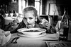 That long-awaited lunch (Unicorn.mod) Tags: 2017 bw monochrome indoor restaurant lunch child childs girl girls people manual manuallens portrait canoneos6d canon samyang35mmf14asumc samyangmf35mmf14edasumcaecanonef