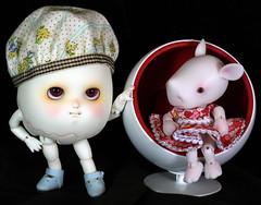 Besties (bentwhisker) Tags: dolls bjd resin anthro egg rhino soom neoangelregion humptydumpty dreamhighstudio leah 1981