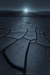 Midnight Hour (Bob Bowman Photography) Tags: landscape moon crack mud lines deathvalley night midnight stars moonlight