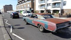 1966 Buick Skylark. (ManOfYorkshire) Tags: 1966 buick skylark lax357d car auto automobile green petrol 5600cc worthing sussex uk gb seafront bruiser unfinished look grunge grudge