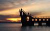 Blackrock Sunset (Galway Pete) Tags: sunset galway blackrock nature landscape seascape divingboard ireland