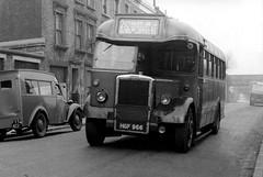 c1952 – London Transport TD8 / HGF966 with Weymann body. (RTW501) Tags: hgf966 td8 leylandtitan londontransport halfcab singledecker td bus weymann finsburypark 210 route210