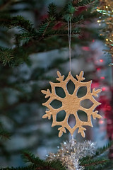 Snowflake On A Christmas Tree (k009034) Tags: 500px tree christmas branch bright ornament branches fabric candle handmade idyllic holidays hanging indoors decorations tinsel snow flake lights teamcanon