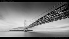 TLC 7 : The Promised Land (YOSHIHIKO WADA) Tags: blackandwhite longexposure bridge architecture japan kobe seascape sky clouds 2018 horizon yoshihikowada