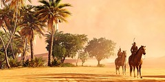"""""""Convoy"""" (Omegapepper) Tags: gaming game wallpaper assassin assassins creed sand palm tree horse character convoy atmosphere atmospheric sky landscape photography photomode srwe hotsampling camera tools nvidia"""
