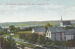 c. 1910 Postcard View - Pleasant Street looking West at South Ohio, Yarmouth County, N.S. (Treasures from the Past) Tags: novascotia southohio yarmouthcounty pleasantstreet postcard