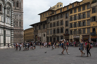All quiet in Piazza del Duomo