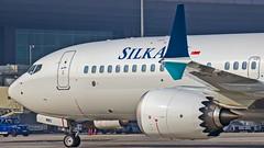 Silk Air Boeing B737-8MAX 9V-MBC Bangalore (BLR/VOBL) (Aiel) Tags: silkair boeing b737 b7378max 9vmbc bangalore bengaluru canon60d tamron70300vc