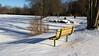 Cold Bench With Long Shadows (John Kocijanski) Tags: bench hbm shadows snow winter park canon18135mmstmlens sullivancounty