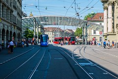 Bern Station (olle.graf) Tags: 2017 bern june switzerland glassroof tram tramstation