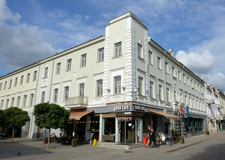 DSC_5673 Savanorių pr. in Kaunas - Fussgängerzone mit Cafés und Geschäften - Zentrum der Stadt / Altstadt.