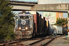 ¡Ñooo! QUE TARDE! (brickbuilder711) Tags: fec florida east coast train miami hialeah 432 gp402 downtown job dtn04