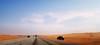 """A road with no obstacles ("""" Don Quixote """") Tags: road sky travel outdoor ksa saudi arabia desert"""