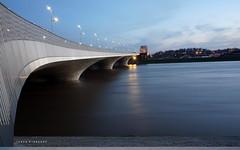Nijmegen (NED) flooded (Ineke Klaassen) Tags: bridge waal nijmegen river rivier nederland water hoogwater 024 nimma gelderland sony sonyimages sonya6000 sonyalpha sonyalpha6000 sonyilce6000 ilce longexposure langesluitertijd 1025fav outdoor 35faves inekeklaassen 40faves nap 2550fav geldersestreken brug lent 700views 5075fav 50fav 50faves 900views
