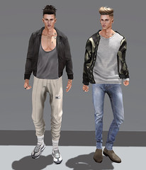 SCARS (Levi Megadon // *OMG*) Tags: sl secondlife men mens blog blogger look lotd outfit new mesh clothing clothes stylish style cool formen event tmd themensdept exclusive jacket mgmens famefemme hiemal joggers socks sweatpants versov sneaks sneakers lowtop kicks fresh dope street urban doux hair bolson tats tattoos deadwool boots chelsea gabriel gb bomber dura