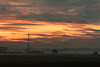 Sunset Power (Mister Oy) Tags: winwick warrington cheshire sunset nikon d850 85mm poer pylon mist misty weather orange moody clouds atmospheric rural farmland