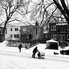 Je suis au chaud et eux sont dehors dans le froid et la neige... (woltarise) Tags: montréal rosemont quartier travailleurs publicités circulaires hiver streetwise