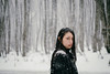 (shoshibata) Tags: portrait woman winter snow tree road aomori japan