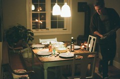 home for christmas (The_Last_Magnus) Tags: film analog analogue pentax 35mm 35mmfilm christmas dinner fireplace home family