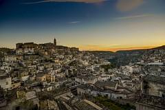 Sunrise in Matera. (Antonio Cinotti ) Tags: matera nikon nikond7100 sassidimatera italy italia basilicata nikonitalia nikon1685 città sunrise alba dawn