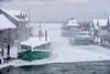 Frozen Fleet (Aaron Springer) Tags: michigan northernmichigan lakemichigan thegreatlakes fishtown leland tug boat weather ice snow winter january janicesue joy mishemokwa outdoor landscape