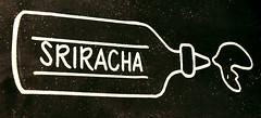 Sriracha (earthdog) Tags: 2018 nikon d5600 nikond5600 18300mmf3563 losgatos art blackboard chalk chalkboard word bottle sriracha sign restaurant mainstreetburgers