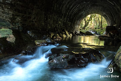 Out the other side (www.jamesbrew.com) (James Brew (www.jamesbrew.com)) Tags: isle man manx uk britain europe landscape photography nature waterfall long exposure tunnel ballaglass glen james brew