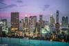 Bangkok Skyline during sunset (patuffel) Tags: sunset blue hour bangkok infinity pool indigo hotel wireless road thailand