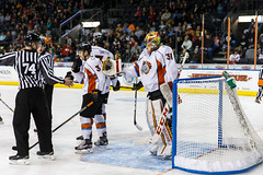 """Kansas City Mavericks vs. Kalamazoo Wings, January 5, 2018, Silverstein Eye Centers Arena, Independence, Missouri.  Photo: © John Howe / Howe Creative Photography, all rights reserved 2018. • <a style=""""font-size:0.8em;"""" href=""""http://www.flickr.com/photos/134016632@N02/25707995098/"""" target=""""_blank"""">View on Flickr</a>"""