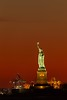 Statue of Liberty, Red Sky ([ raymond ]) Tags: newyork nyc statueofliberty