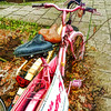two bikes in love (j.p.yef) Tags: peterfey jpyef yef bicycles bikes digitalartphotomanipulation iphone street pink germany hamburg seasons autumn leaves square yellow love