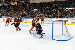 "Kansas City Mavericks vs. Colorado Eagles, December 16, 2017, Silverstein Eye Centers Arena, Independence, Missouri.  Photo: © John Howe / Howe Creative Photography, all rights reserved 2017. • <a style=""font-size:0.8em;"" href=""http://www.flickr.com/photos/134016632@N02/27360159739/"" target=""_blank"">View on Flickr</a>"