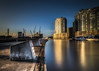 Melbourne's South wharf precinct (Chas56) Tags: reflection river yarra melbourne longexposure sunset jetty pier boats buildings water yarrariver clour color pov perspective
