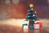 Miniature Origami Christmas (Andrea Garza ~) Tags: christmastree origami paper papercrafts crafts crafty folding tree ornaments bokeh gifts star holiday holidays festive magical christmas