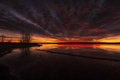 Dawn Emerges (mclcbooks) Tags: dawn sunrise daybreak morning clouds light sky lake reflections chatfieldstatepark lakechatfield colorado