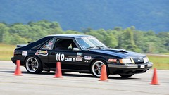 Classic 'Stang on Course (R.A. Killmer) Tags: mustang ford autocross cone race racer racing cumberlandairportautocross cumberland airport v8 fast loud slide