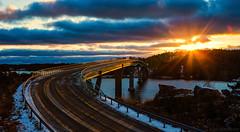 Lövö bro (Joni Mansikka) Tags: nature winter outdoor bridge strait sea archipelago sunset light sky colours landscape trees silhouettes lövö kemiö suomi finland canonef2470mmf28lusm