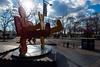Dancing into the New Year (Eddie C3) Tags: batterypark sculpture nyc keithharing lowermanhattan financialdistrict streetviews newyorkcity
