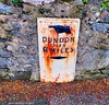 Scotland West Highland Argyll Blairmore village a late 1800's road sign for walkers Dunoon Pier 9 miles 22 August 2017 by Anne MacKay (Anne MacKay images of interest & wonder) Tags: scotland west highland argyll blairmore village victorian 1800s road sign walkers dunoon pier nine miles xs1 22 august 2017 picture by anne mackay