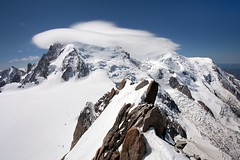 Mont Blanc and UFO (aivar.mikko) Tags: mont blanc montblanc ufo cloud formation clouds france alps alpes rhonealpes massif aguilledumidi chamonix mountains mountain peak landscape frenchlandscapes scenic view scenery aguille du midi