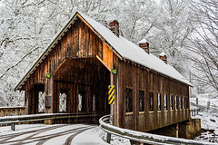 Emerts Cove Covered Bridge (Back Road Photography (Kevin W. Jerrell)) Tags: coveredbridges seviercounty pittmancenter tennessee nikond7200 snow winter winterwonderland backroadphotography snowcovered smokeymountains picturesque