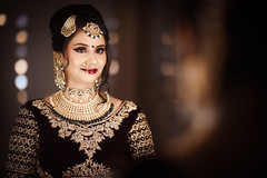 Gorgeous Indian Bride - Wedding (pinkeshsmodi) Tags: glamour gorgeous indian bride wedding portrait woman lady girl makeup salon beautiful beauty smile dress adorable color camera closeup face happy bridal marriage india indoors jewel jewelry
